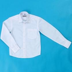 Сорочка детская, длинный рукав, белая, DINO-2d (6114)
