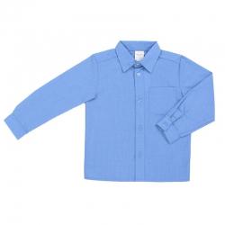 Сорочка детская, длинный рукав, голубой, 2011