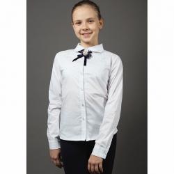 Блуза длинный рукав, Белый, 6996