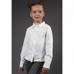 Блуза длинный рукав, Белый, 1974