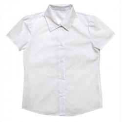 Блузка для девочки, белый, ШФ 0061