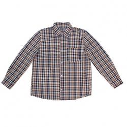 Сорочка для мальчика, коричневый, ОД 0021.1
