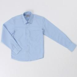 Сорочка детская, длинный рукав, св. голубой, DINO-27d (6113)