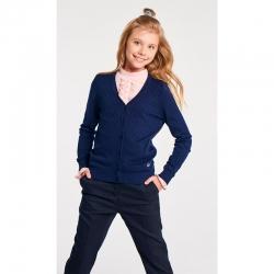 Жакет детский для девочек, Oxen темно-синий, 423105002