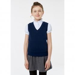 Жилет для девочки, цвет синий, 2S5-002-11811