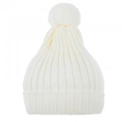 Шапка для девочки,молочный,  Cd-979