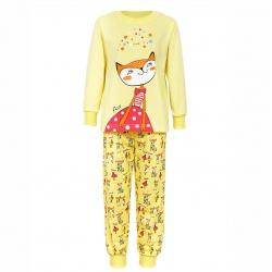 Пижама для девочки, жёлтая, 7-15-6
