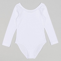 Купальник гимнастический для девочки (Боди детское),,   цвет белый, 414 3541654