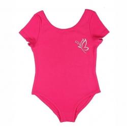 Купальник гимнастический для девочки, фуксия, CAJ 4121