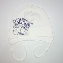 Шапка детская ,  молочный , АРТ.7074