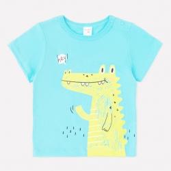 Фуфайка для мальчика, яркий минт(крокодилы), К 3942