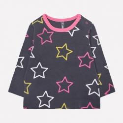 Джемпер ясли, розовые звезды на тем.сером, К 300728
