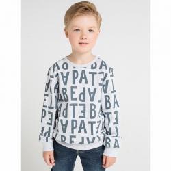 Джемпер для мальчика, серые буквы на меланже, К 300543