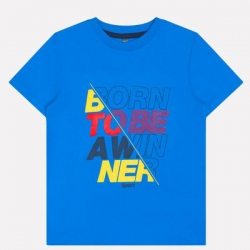 Фуфайка для мальчика, ярко-голубой к1237, К 300737
