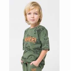 Фуфайка для мальчика, бронзово-зеленый тигры к1243, К 300741