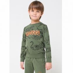 Джемпер для мальчика, бронзово-зеленый тигры к1243, К 300743
