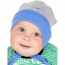 Шапка детская, дымчатый+синий, Р1047-5376