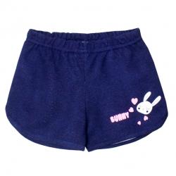 Шорты для девочки, Синий джинс, Зайка,2141-038