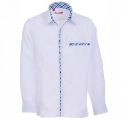 Сорочка для мальчика дл.рук,белая, (6124) T66DF0101d