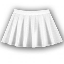 Юбка из сетки, белый, CAK7783