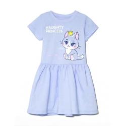 Платье 2110-178 , Кошка, Голубой