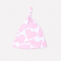 Шапка дет, К 8036/св.розовые сердечки на белом