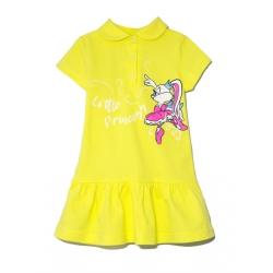 Платье 2141-119, Зайка балерина, Желтый,