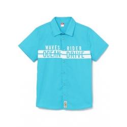 Рубашка для мальчика, Бирюзовый, CSJB 62735-40-275
