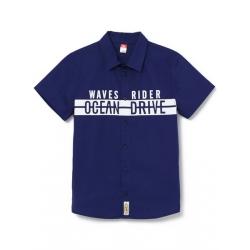 Рубашка для мальчика, Т.синий, CSJB 62735-41-275