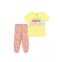 Комплект для девочки, Желтый, CSKG 50010-30