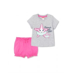 Комплект для девочки, Св.серый меланж, CSNG 90039-11-280