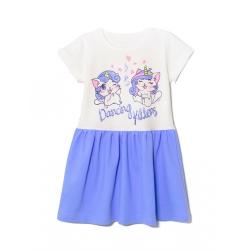 Платье 2141-178, Kittens Голубой