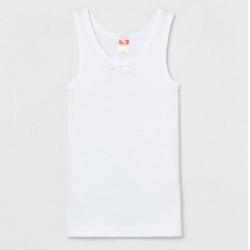 Майка для девочки, Белый, CAKG 20021-20