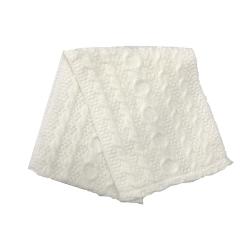 Шарф-хомут для девочки, белый, Арт. 12300