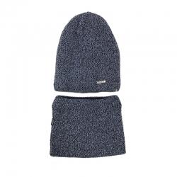 Комплект 2153 Zorba шапка на утеплителе, подклад хлопок+снуд , джинс