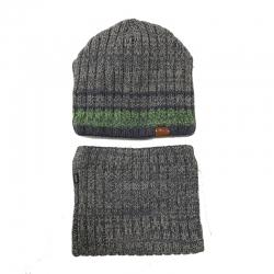 Комплект 2278 Pionier шапка вязка на флис. подкл.+ снуд
