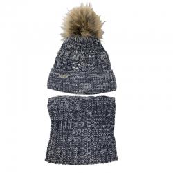 Комплект 2268 ARGENTA шапка вязка на флис. подкл.+ снуд