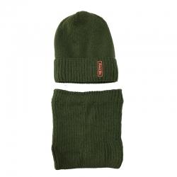 Комплект 3023 Akant шапка подклад флис + снуд, хаки