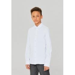 Сорочка верхняя детская для мальчиков Gingham-Inf base голубой, 912137021