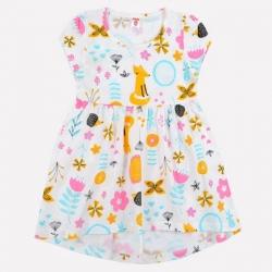Платье для девочки, сахар, летний лес, К 5599