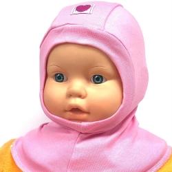 Шлем-поддёвка для девочки, розовая, 2196