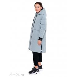 """365-21в-1 Куртка для девочки """"Лаис"""" серо-голубой"""