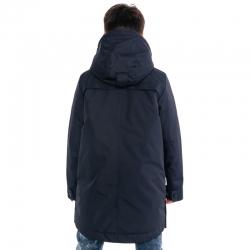 "306-20о-2 Пальто-парка для мальчика ""Джеймс"" синий"