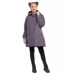 """403-21о-2 Пальто-парка для девочки """"Джеки"""" серый"""