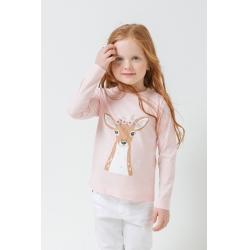 Джемпер для девочки ясельного возраста, КР 301437/бежево-розовый к295