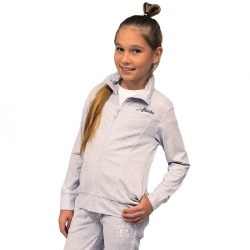 Жакет для девочки, серо-голуб.меланж, К 300288