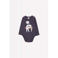 Полукомбинезон для мальчика ясельного возраста, К 6293/темно-серый(ленивцы)
