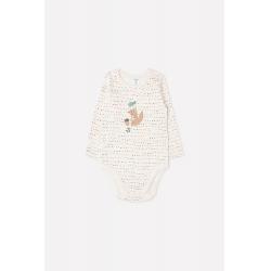 Полукомбинезон для девочки ясельного возраста, К 6293/цветные штрихи на белой лилии