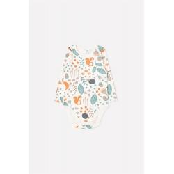 Полукомбинезон для девочки ясельного возраста, К 6342/осенняя пора на белой лилии