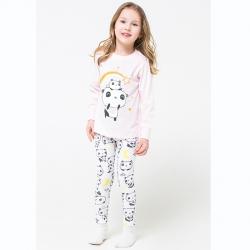 К 1537/пыльно-розовый+панды на белом пижама дет